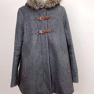 Anthropologie Cartonnier Wool Grey Coat